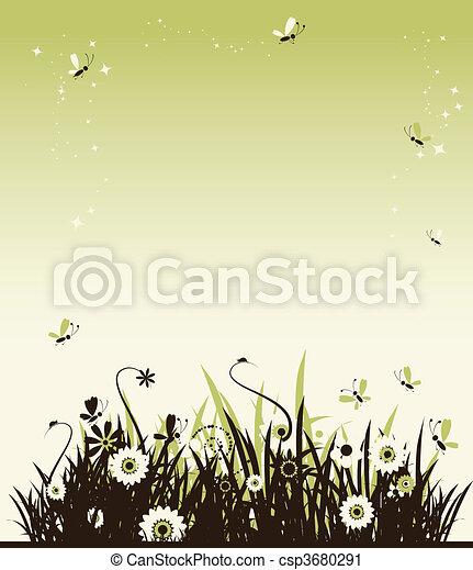 Summer meadow beautiful - csp3680291