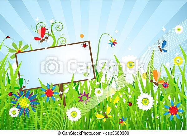 Summer meadow beautiful - csp3680300