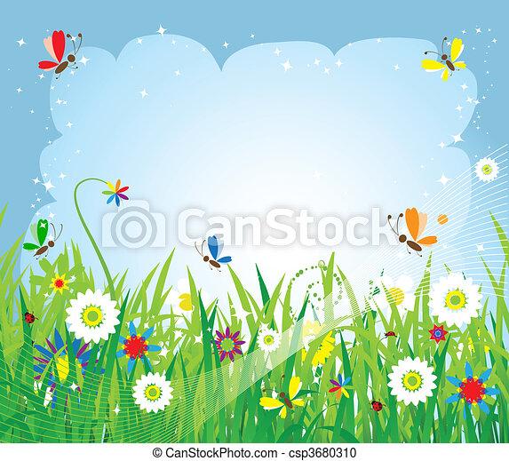 Summer meadow beautiful - csp3680310