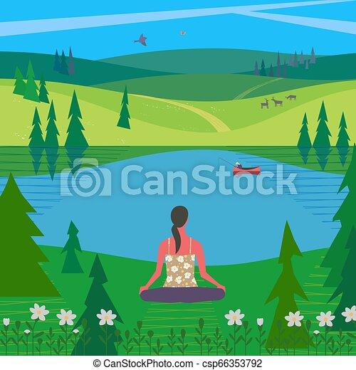 Relaxing Nature Clip Art