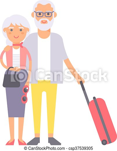summer old couple people illustration summer old couple vector rh canstockphoto co uk old couple clipart free old couple clipart black and white