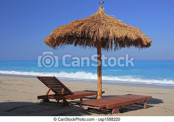 summer on the beach in Greece - csp1588220