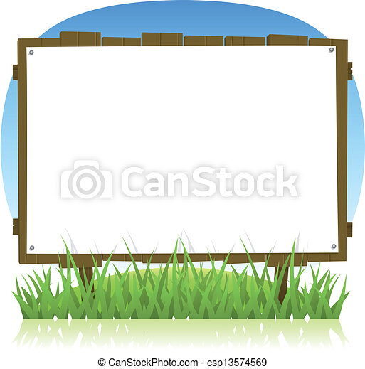Summer Or Spring Country Wood Billboard - csp13574569