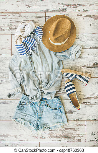 85d2b5fb88962 Summer outfit flatlay