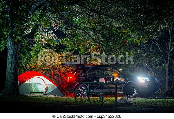 Summer Overnight Camping - csp34522826