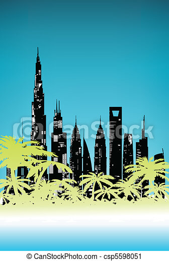 Summer Palm City - csp5598051