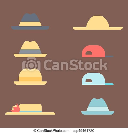 3bf203102cc87 Summer panama hats straw fashion head sun protection traditional headgear  accessory vector illustration. head clothing cap travel classic bonnet.