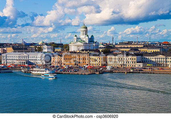 Summer panorama of Helsinki, Finla - csp3606920