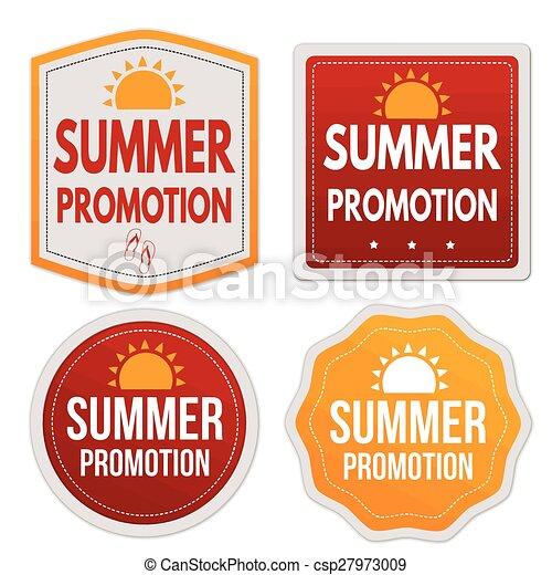 Summer promotion stickers set csp27973009