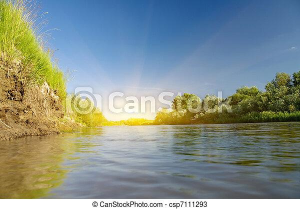 Summer river. - csp7111293