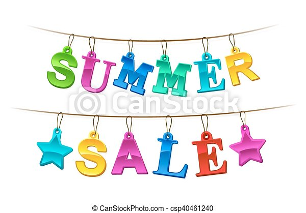 Summer Sale advertising banner or sign - csp40461240