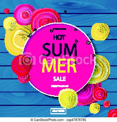 Summer Sale Background With Beautiful Colorful Flower Wallpaper