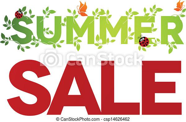 Summer sale design - csp14626462