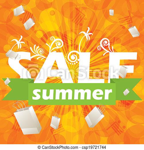Summer sale design template  - csp19721744