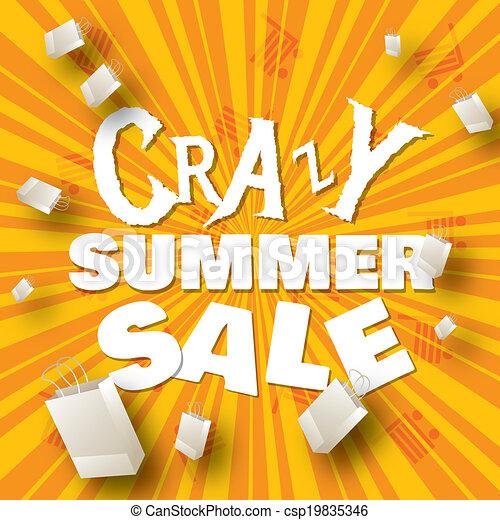Summer sale design template  - csp19835346