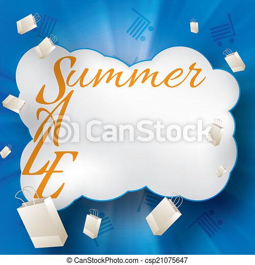 Summer sale design template  - csp21075647