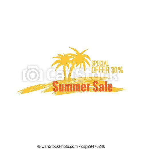 Summer sale design template - csp29476248