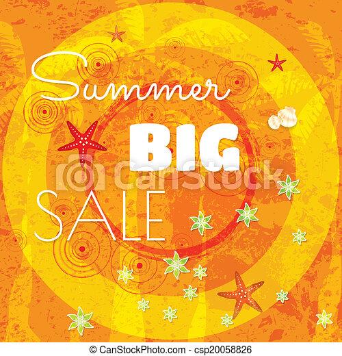 Summer sale design template  - csp20058826