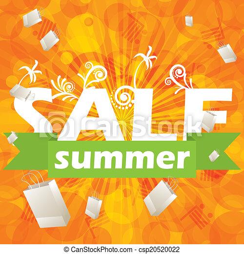 Summer sale design template  - csp20520022