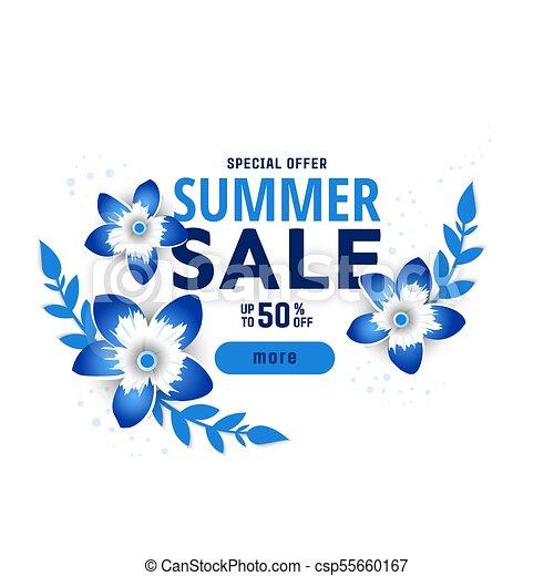 Summer sale design with flowers summer sale design layout for summer sale design with flowers csp55660167 mightylinksfo