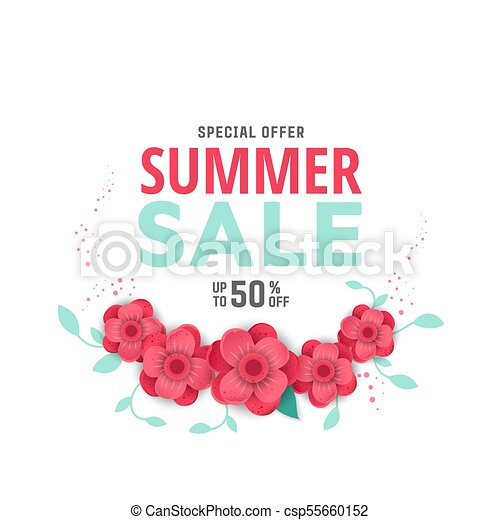 Summer sale design with flowers summer sale design layout for summer sale design with flowers csp55660152 mightylinksfo