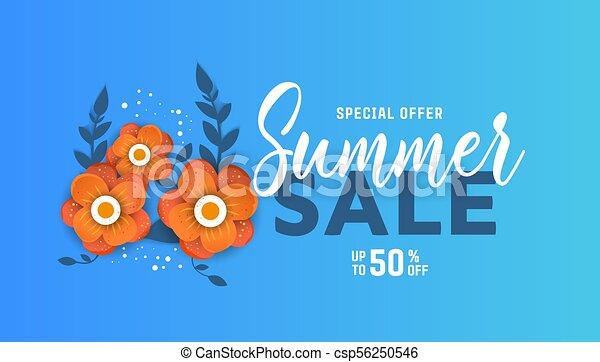 Summer sale design with flowers summer sale design layout for summer sale design with flowers csp56250546 mightylinksfo