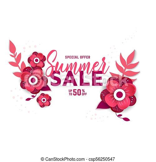 Summer sale design with flowers summer sale design layout for summer sale design with flowers csp56250547 mightylinksfo