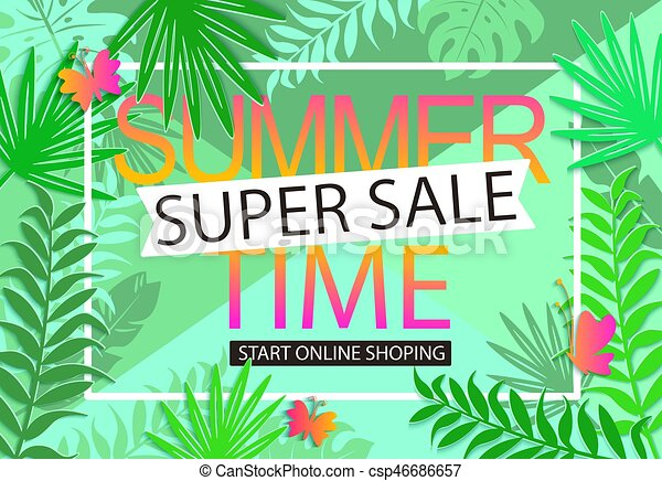Summer Sale Jungle Background