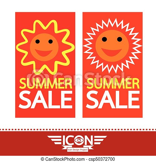 Summer sale sun sign - csp50372700