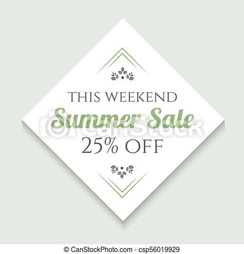 Summer sale vintage banner - csp56019929