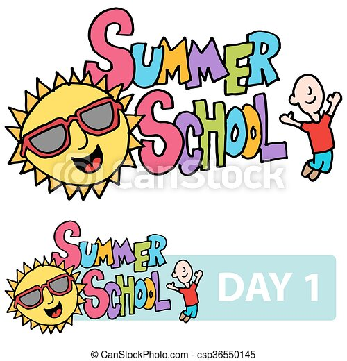 an image of a summer school son and student message eps vector rh canstockphoto com summer school clipart free summer sunday school clipart