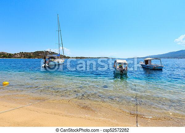 Summer sea coast (Sithonia, Greece). - csp52572282