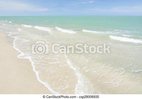 Summer sea wave - csp28006935
