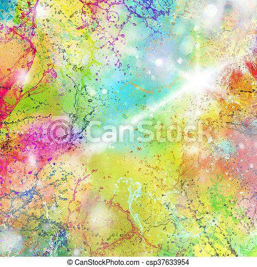 Summer splashes of color - csp37633954