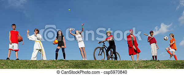 summer sports camp kids - csp5970840