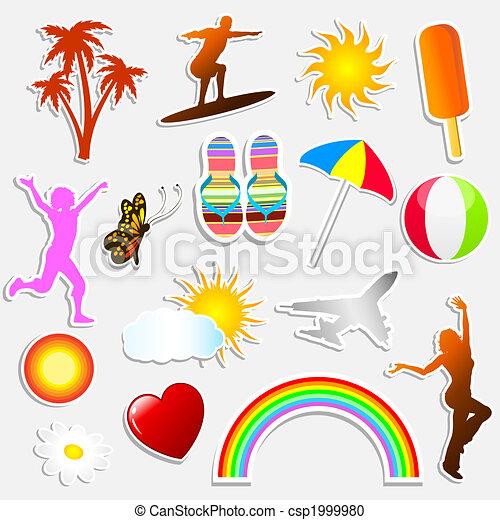 Summer stickers - csp1999980