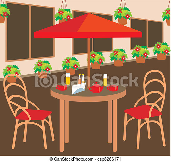 patio clipart. summer street cafe patio clipart d