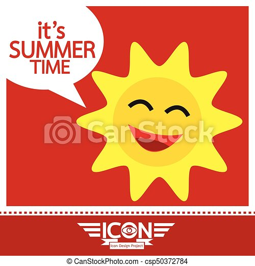 Summer sun sign - csp50372784