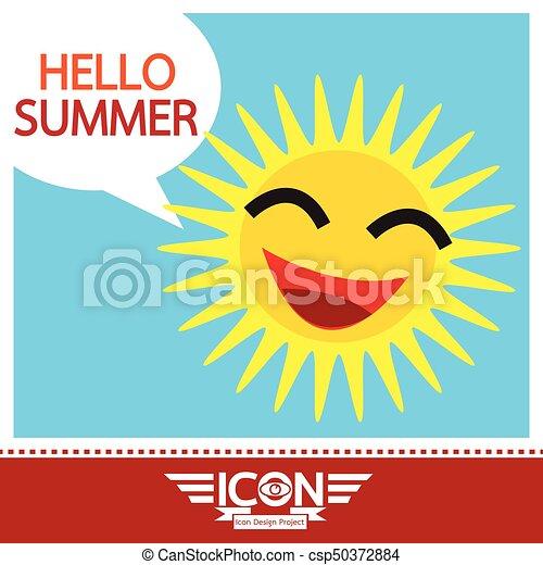 Summer sun sign - csp50372884