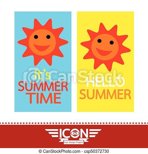 Summer sun sign - csp50372730