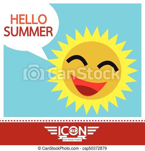 Summer sun sign - csp50372879