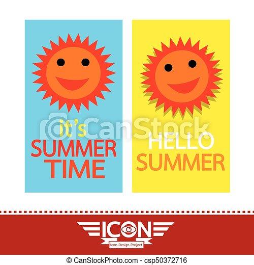 Summer sun sign - csp50372716