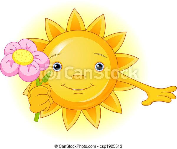 Summer Sun with flower - csp1925513