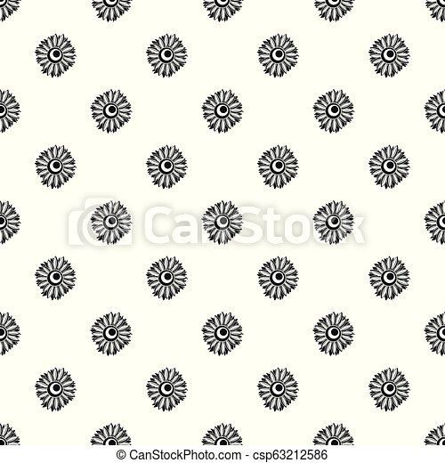 Summer sunflower pattern seamless vector - csp63212586