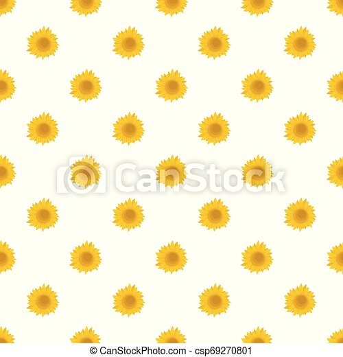 Summer sunflower pattern seamless vector - csp69270801