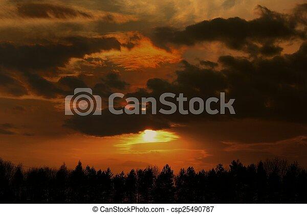 Summer sunset - csp25490787
