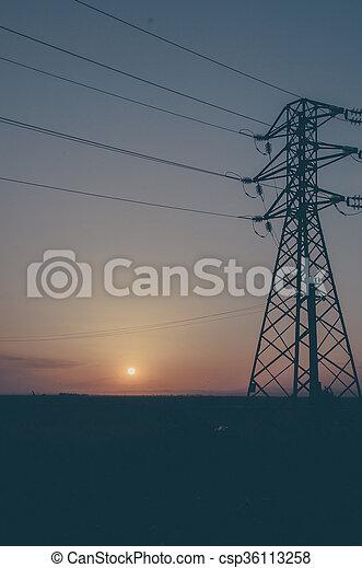 Summer sunset - csp36113258