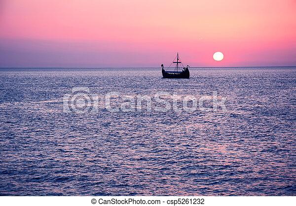 Summer sunset. - csp5261232