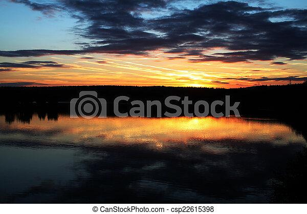 Summer sunset - csp22615398