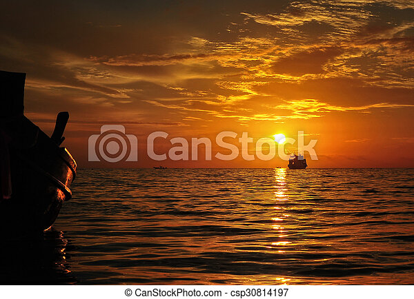 Summer sunset - csp30814197